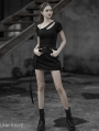 Black Street Gothic Punk Mini Skirt
