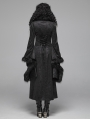 Black Gothic Gorgeous Jacquard Winter Warm Long Coat for Women