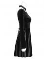 Black Gothic Daily Velvet Harness Short Dress
