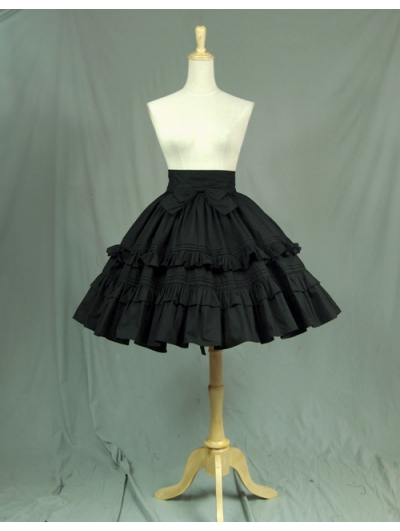 Black Bow Classic Sweet Lolita Skirt
