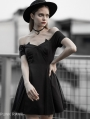 Black Gothic Devil Off-the-Shoulder Sweet Short Dress
