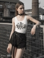 Black Street Fashion Gothic Punk Belt Shorts for Women