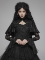 Black Vintage Gothic Lace Jacquard Shawl Shirt for Women