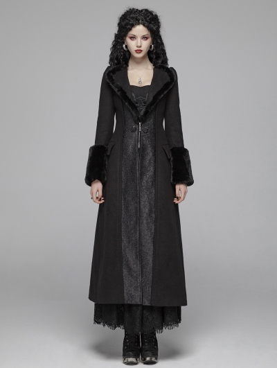 Black Gothic Gorgeous Long Winter Warm Coat for Women