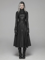Black Gothic Dark Punk Long Coat for Women