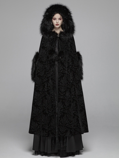 Black Gothic Gorgeous Winter Warm Cloak for Women