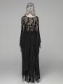 Black Gothic Punk Long Asymmetric Lace Dress