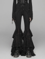 Black Gothic Lace Big Pendulum Trousers for Women