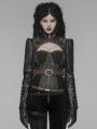 Coffee Gothic Steampunk Rivet Short Jacket for Women