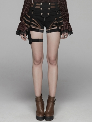 Coffee Steampunk Shorts for Women