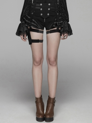 Black Steampunk Shorts for Women