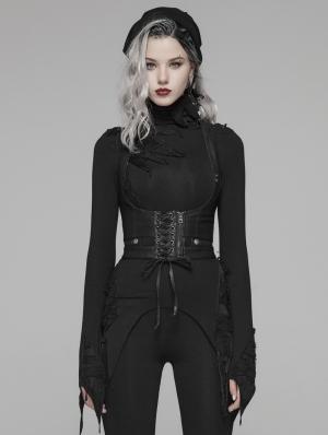 Black Gothic Punk Harness Accessories