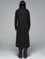 Black Gothic Dark Long Shirt Outfit for Men