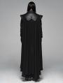 Black Gothic Punk Warrior Long Cloak for Men