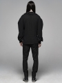 Black Vintage Gothic Low-Cut Loose Shirt for Men