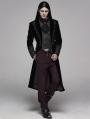 Black Retro Gothic Velvet Masquerade Ball Coat for Men