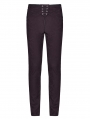 Fuchsia Retro Gothic Floral Swallow Suit Trousers for Men