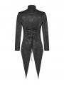 Black Gothic Victoria Dovetail Coat for Men