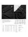 Black Gothic Dark Double-Breasted Long Coat for Men