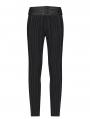 Black Retro Gothic Gentlemen's Stripe Pants