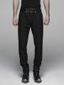 Black Gothic Gentleman Style Stripe Trousers