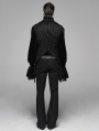 Black Gothic Decadent Asymmetric Masquerade Ball Vest for Men