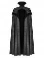 Black Noble Gothic Vampire Long Cloak for Men
