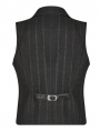 Black Retro Gothic Gentleman Stripe Waistcoat