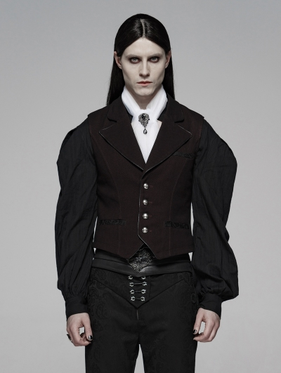 Red Gothic Simple Gentleman Style Vest