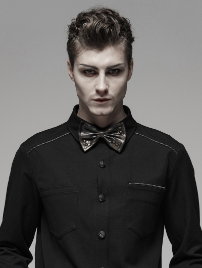 Brown Steampunk Vintage Bow Tie for Men