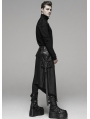 Black Gothic Punk Metal Pocket Men's Half Skirt