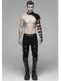 Black Gothic Punk Metal Armlet Shoulder for Men