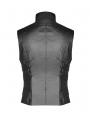 Black Gothic Punk Future Style Vest for Men