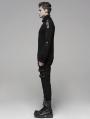 Black Gothic Uniform Sweater for Men