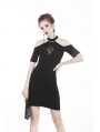 Black Sexy Gothic Off-the-Shoulder Slim Mini Dress
