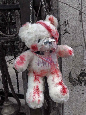 Injured Bloody Bear Doll Bag