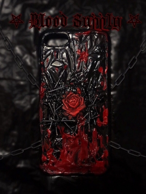 Gothic Bloody Rose Phone case