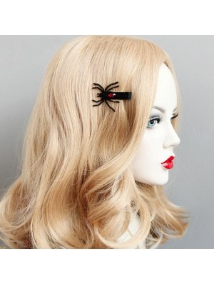 Black Gothic Spider Hairpin