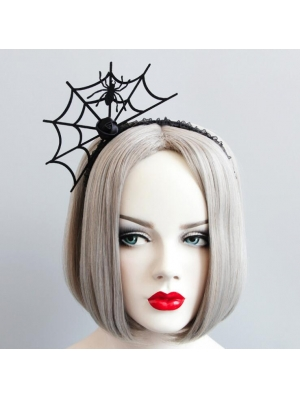 Black Gothic Halloween Spider Headband