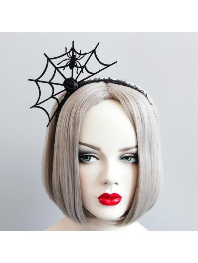 Black Gothic Halloween Spider Headband