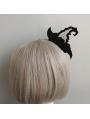 Black Gothic Halloween Witch Headband