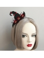 Black and Red Gothic Halloween Witch Headband