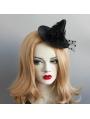 Black Gothic Halloween Witch Hat Headdress