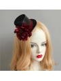 Gothic Party Red Flower Hat Headdress