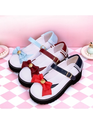 Red/Blue/Dark Red Sweet Lolita Sailor Style Shoes