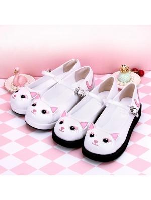 Black/White Sweet Lolita Cat Pattern Shoes