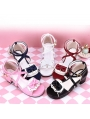 Black/White/Pink/Red/Blue Sweet Lolita Bow Sandals