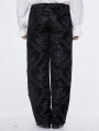 Black Vintage Gothic Masquerade Party Long Trousers for Men