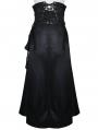 Black Gothic Punk PU Leather High Waist Skirt