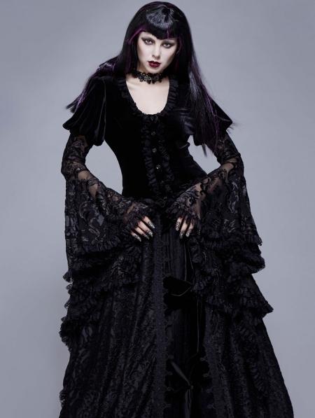 Fashion Victorian Dress Decor Costume Black Rose Lace Jewelry Women Bracelet